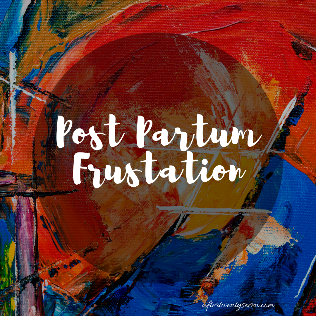 Post Partum Frustation – The Help